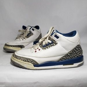Nike Air Jordan 3 Retro White & Blue Sneakers